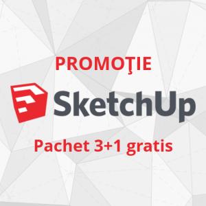 Promotie SketchUp Pro 3+1 Gratis