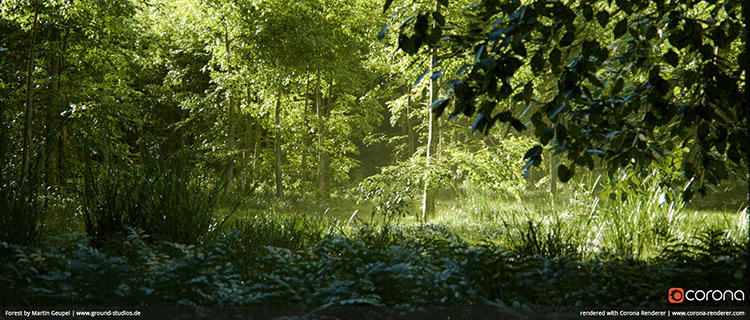 forest-corona-renderer-cadware-engineering